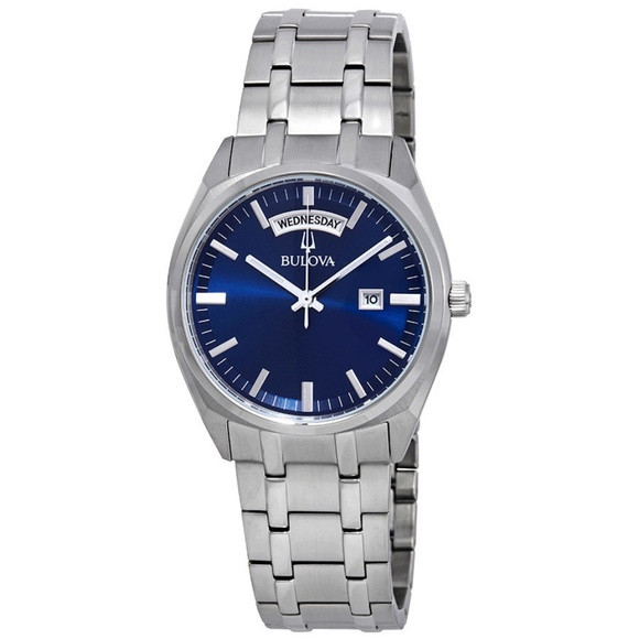afc471255f7 Bulova Classic Blue Dial Stainless Steel Mens Watc